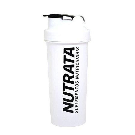 Coqueteleira Branca 600ml - Nutrata