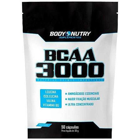 BCAA 3000 Refil 50 cápsulas - Body Nutry