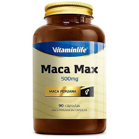 Maca Peruana Max 500mg 90 caps - Vitaminlife