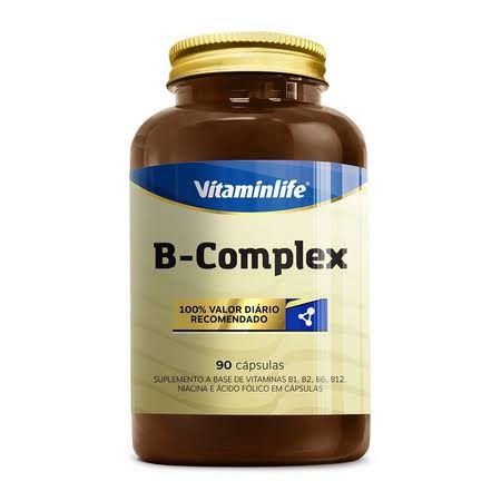B - Complex a base de Vitaminas B1, B2, B6, B12, Niacina - 90 caps - VitaminLife