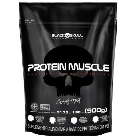 Protein Muscle 900g - Black Skull Caveira Preta