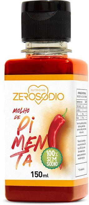 Molho de Pimenta Vermelha sem sódio - 150ml - ZeroSodio