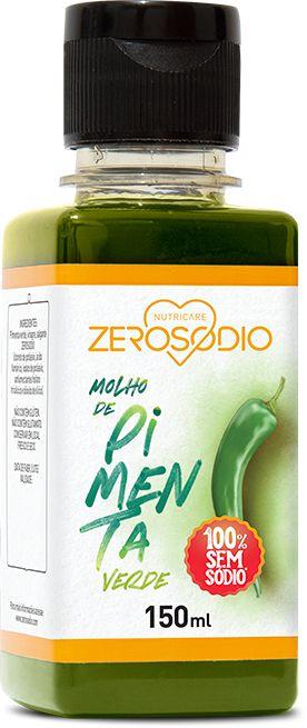 Molho de Pimenta verde Sem sódio - 150ml - ZeroSodio