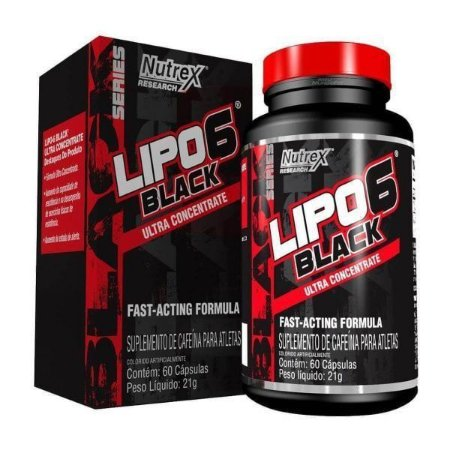 Lipo 6 Black Ultra Concentrate 60 Cápsulas - Nutrex