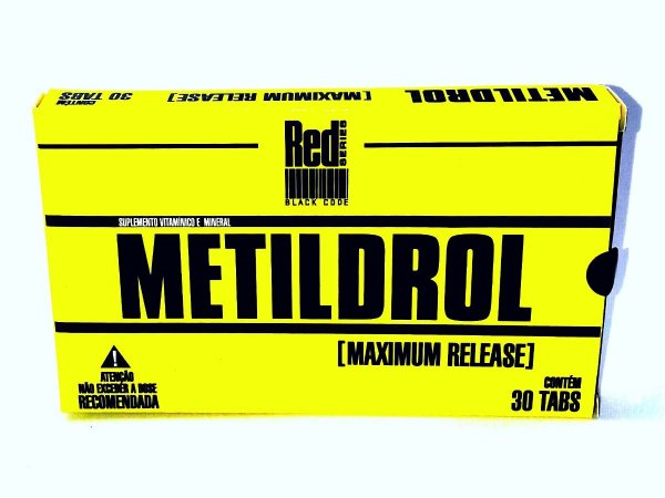 Metildrol Pró Hormonal 30 Tabletes - Red Series