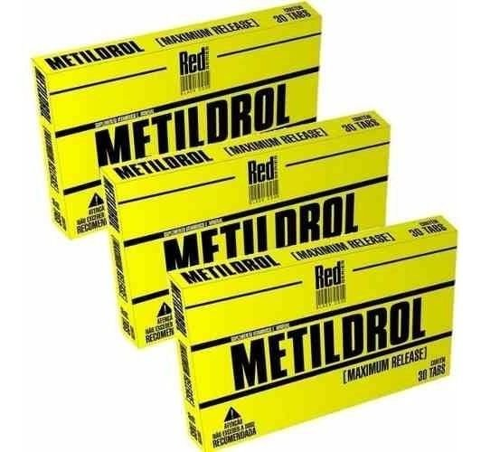 Combo 03 Metildrol Pró Hormonal 90 Tabletes - Red Series