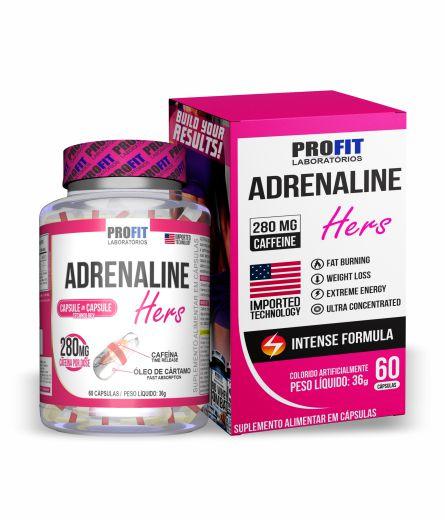 Termogênico Adrenaline Hers 60 cápsulas - Profit Laboratórios