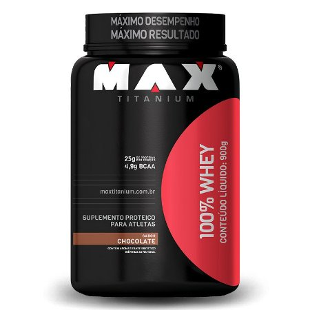 100% Whey pote 900g - Max Titanium
