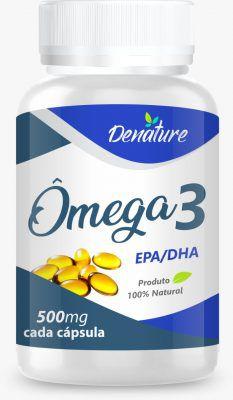 Omega 3 500mg Epa e DHA 60 cápsulas - Denature
