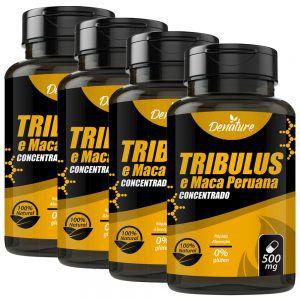 KIT 04 X Tribulus e maca peruana 500mg 60 caps cada - Denature