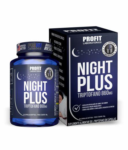 Emagrecedor e regulador de sono Night Plus Triptofano 60 caps - Profit Labs