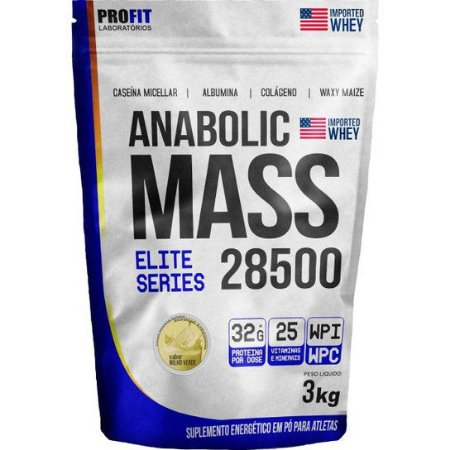 Hipercalórico Massa Anabolic 28500 3kg - Profit Labs