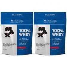 Kit 2x 100% Whey 900g Refil - Max Titanium