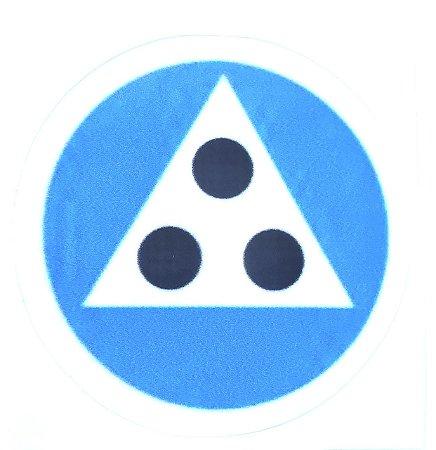 Adesivo 3 Pontos Azul
