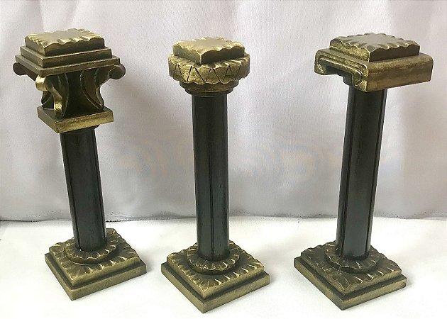 Colunas Jônica, Dórica e Corintia