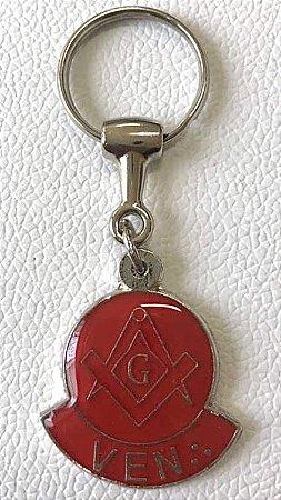 Chaveiro Venerável Vermelho (com Dourado/Prata)