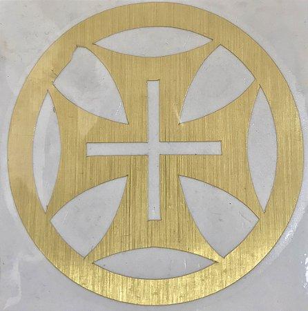 Adesivo Templario Dourado