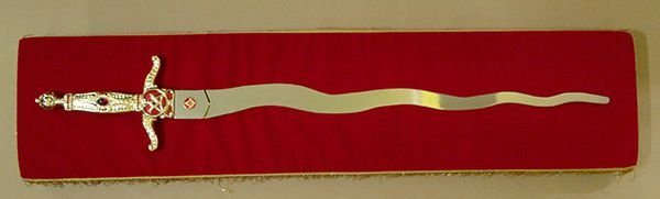 Almofada Vermelha para Espada Flamigera Luxo