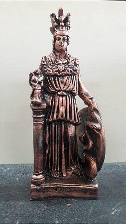 Estátua Athena em gesso