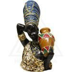 Estatueta Mulher Africana - Gesso