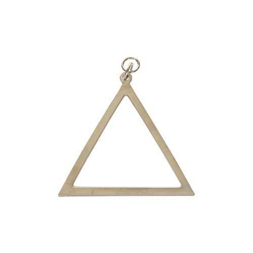 Joia Mestre de Cerimônias Triângulo REAA Dourada