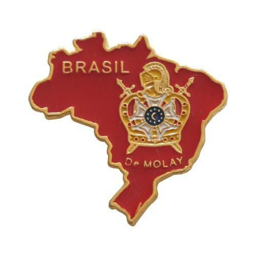 Pin Território do Brasil DeMolay