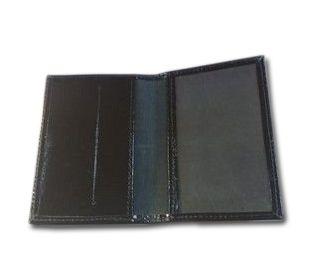 Porta documento de couro preto logo Esquadro e Compasso