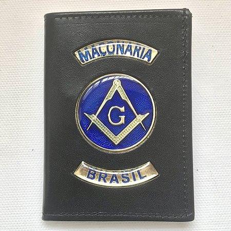 Porta Documentos em Couro Maçonaria Brasil