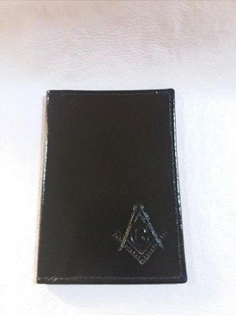 Porta-Documentos esquadro e compasso couro