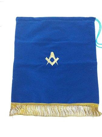 Bolsa de proposta em veludo azul