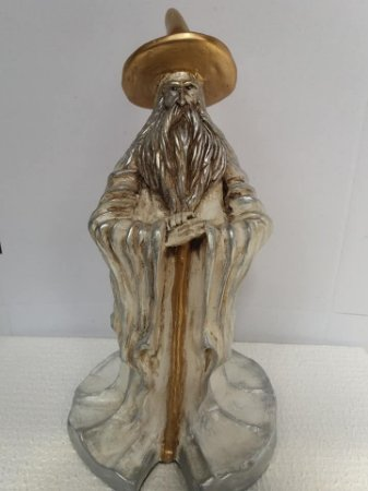 Estatua Mago em gesso