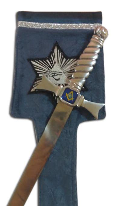 Porta espada em tecido veludo bordado estrela olho de Horus(Nao acompanha espada)