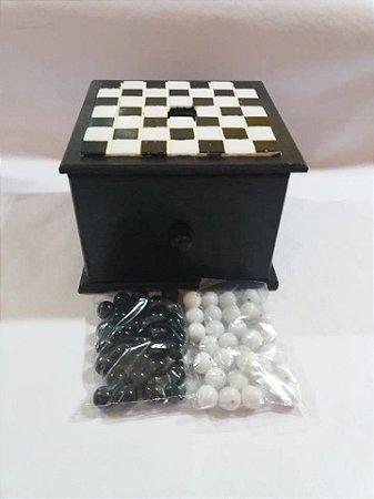 Caixa de escrutínio com uma gaveta (acompanha 60 esferas)
