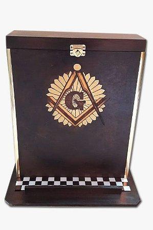 caixa de painel com tampa marrom black