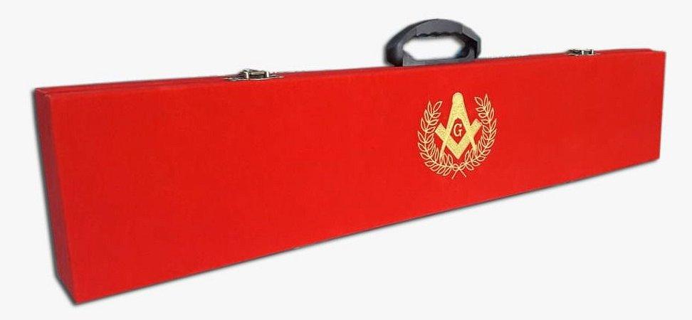 caixa para espada flamigera simples de veludo