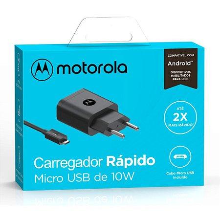 Carreg. Motorola Fast Charge 10W M.USB
