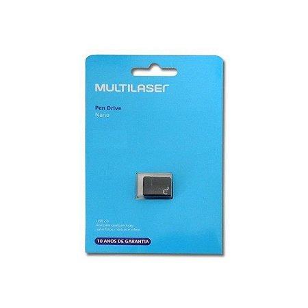 Pen Drive Multilaser PD053 Nano 8GB Preto