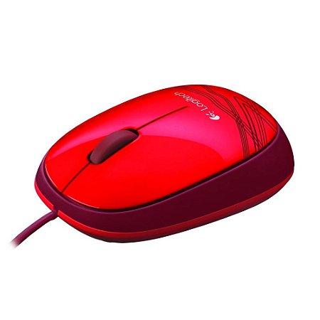 Mouse Logitech M105 USB Vermelho