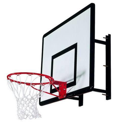 Tabela de basquete 1,60x110 com suporte de parede