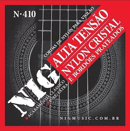 Encordoamento Violão Nylon Alta Tensão 6 Cordas NIG N-410