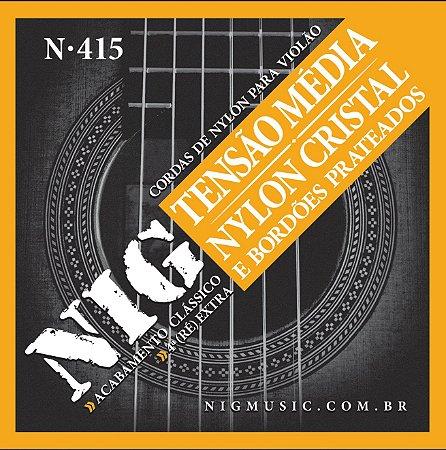 Encordoamento Violão Nylon Cordas Tensão Média NIG N-415
