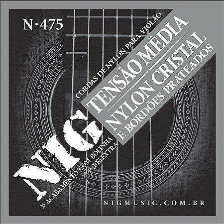 Cordas Encordoamento Nig Violão Nylon Tensão Média N-475 Com Bolinha