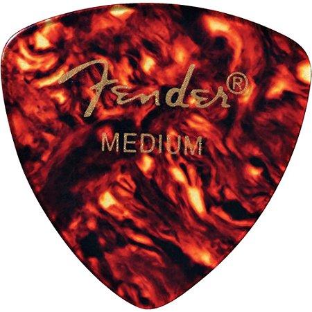 Palheta Fender para Guitarra ou Baixo 3 pontas Media 346 Tortoise 12 Un