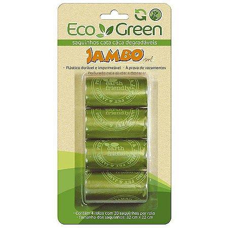 Refil Sacolas Biodegradáveis Eco Green Jambo Pet 4 unid.