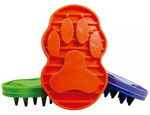 Escova Flexível de Borracha para Cachorro