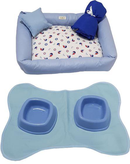 Enxoval Completo para Filhotes Azul