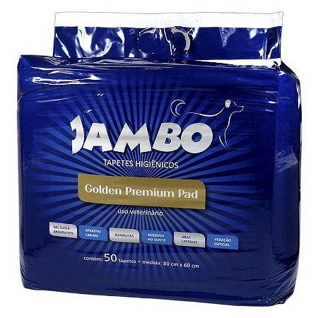 Tapete Higiênico Golden Premium Jambo Pet 50 Unid. 80cm x 60cm