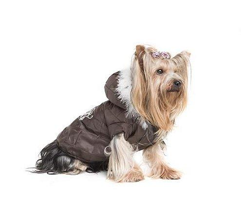 Casaco Nylon Luxo com Capuz para Cães