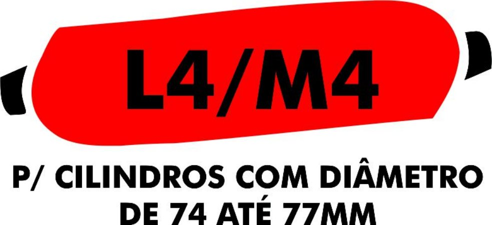 D - Camisa molhadora tipo MANCHÃO L4/M4 para cilindros com diâmetro de 74 A 77 mm