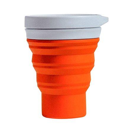 Copo Reutilizável menos 1 lixo - LARANJA